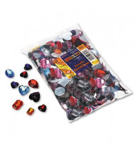 Chenille Kraft 1 lb Acrylic Gemstones Classroom Pack, Assorted Colors/Sizes