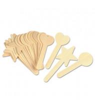 "Creativity Street 6"" x 1"" Geometric Shapes Wood Craft Sticks, Natural, 36/Set"