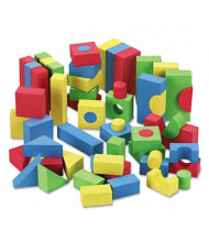 Chenille Kraft WonderFoam Blocks, Assorted Colors, 68/Pack