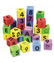Chenille Kraft WonderFoam Learning Blocks, Assorted, 30/Pack