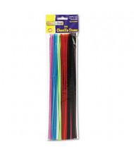 """Chenille Kraft Regular Pipe Cleaner Stems, 12"""" x 4mm, Assorted, 100/Pack"""