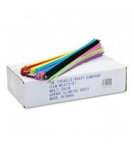 "Chenille Kraft Regular Pipe Cleaner Stems, 12"" x 4mm, Assorted, 1000/Box"