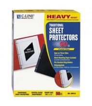 "C-Line 8-1/2"" x 11"" Heavyweight Poly Sheet Protectors, 50/Box"