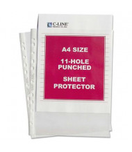 """C-Line 8-1/4"""" x 11-3/4"""" A4 Standard Weight Poly Sheet Protector, 50/Box"""