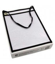 """C-Line 9"""" x 12"""" Clear Shop Ticket Holder with Strap, 15/Box"""