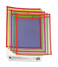 """C-Line 9"""" x 12"""" Stitched Shop Ticket Holder, Assorted Colors, 25/Box"""