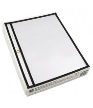 """C-Line 11"""" x 8-1/2"""" Open Long Side Clear Stitched Shop Ticket Holder, 25/Box"""