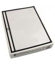 """C-Line 12"""" x 9"""" Open Long Side Clear Stitched Shop Ticket Holder, 25/Box"""