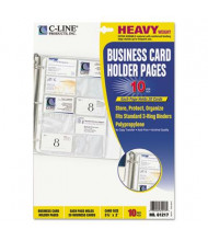 """C-Line 8-1/8"""" x 11-1/4"""" 20-Card Binder Pages, 10/Pack"""