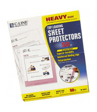 """C-Line 8-1/2"""" x 11"""" Top-Load Heavyweight Clear Poly Sheet Protectors, 50/Box"""