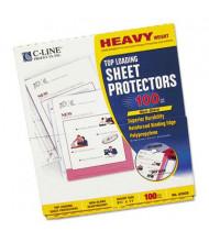 "C-Line 8-1/2"" x 11"" Top-Load Heavyweight Non-Glare Poly Sheet Protectors, 100/Box"