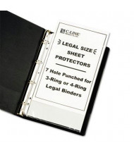 """C-Line 8-1/2"""" x 14"""" Top-Load Heavyweight Clear Hole Punched Sheet Protectors, 50/Box"""