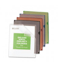 C-Line Deluxe Letter Vinyl Jacket Folders, Assorted, 35/Box