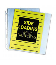 """C-Line 8-1/2"""" x 11"""" Side-Load Clear Poly Sheet Protectors, 50/Box"""