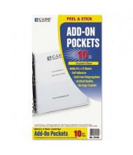 """C-Line 8-3/4"""" x 5-1/8"""" Peel & Stick Add-On Filing Pockets, 10/Box"""