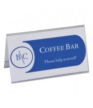 """C-Line 3.5"""" W x 2"""" H Tent Card Holder, 40-Pack"""