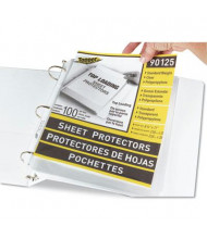 """C-Line 8-1/2"""" x 11"""" Top-Load Standard Clear Poly Sheet Protectors, 100/Box"""