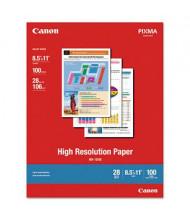 "Canon 8-1/2"" x 11"", 28lb, 100-Sheets, Matte High Resolution Inkjet Paper"