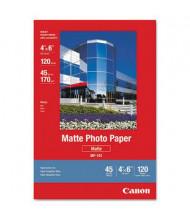 """Canon 4"""" x 6"""", 45lb, 120-Sheets, Matte Photo Paper"""
