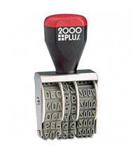 """2000 Plus 6-Year Traditional Date Stamp, 1-3/8"""" x 3/16"""""""