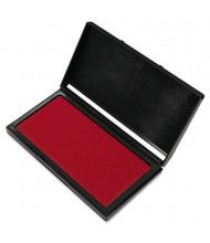 """Cosco Microgel Stamp Pad for 2000 Plus, 3-1/8"""" x 6-1/6"""", Red Ink"""