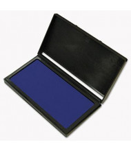 """Cosco Microgel Stamp Pad for 2000 Plus, 3-1/8"""" x 6-1/6"""", Blue Ink"""