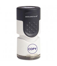 """Accustamp """"Copy"""" Pre-Inked Round Stamp with Microban, Blue Ink, 5/8"""""""