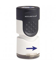 """Accustamp """"Arrow"""" Pre-Inked Round Stamp with Microban, Blue Ink, 5/8"""""""