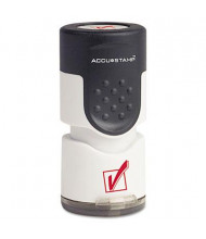 """Accustamp """"Check Mark"""" Pre-Inked Round Stamp with Microban, Red Ink, 5/8"""""""
