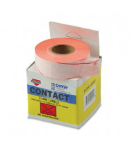 """Garvey 5/8"""" x 13/16"""" Two-Line Pricemarker Labels, Red, 3000/Box"""