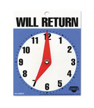 """Cosco 5"""" W x 6"""" H Will Return Later Sign"""