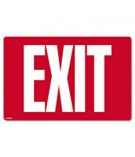 """Cosco 12"""" W x 8"""" H Glow-In-The-Dark Exit Sign"""