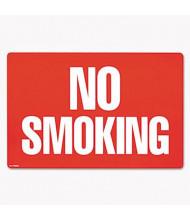 "Cosco 12"" W x 8"" H 2-Sided No Smoking Sign"