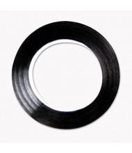 "Cosco 1/4"" x 9 yds Art Tape, Black Gloss"