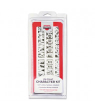 """COSCO 3/4"""" H White Helvetica Character Kit for Letter Directory Boards, 258 Pieces"""