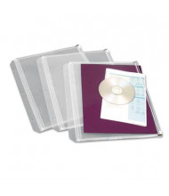 "Cardinal 8-1/2"" x 11"" Zippered Binder Pockets, Clear, 3/Pack"