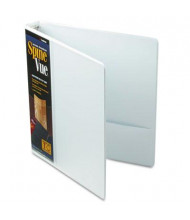 "Cardinal 1"" Capacity 8-1/2"" X 11"" SpineVue Locking Round Ring Binder, White"