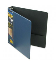 "Cardinal 1-1/2"" Capacity 8-1/2"" X 11"" SpineVue Locking Round Ring Binder, Navy"