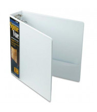 "Cardinal 2"" Capacity 8-1/2"" X 11"" SpineVue Locking Round Ring Binder, White"