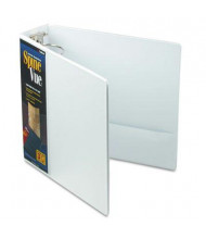 "Cardinal 3"" Capacity 8-1/2"" X 11"" SpineVue Locking Round Ring Binder, White"