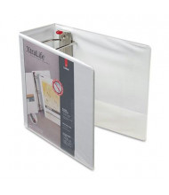"Cardinal 5"" Capacity 8-1/2"" x 11"" Slant-D Ring XtraLife View Binder, White"