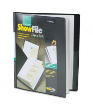 "Cardinal 12-Sleeve 8-1/2"" x 11"" ShowFile Custom Cover Presentation Book, Black"