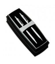 Cross Classic Century Lustrous Ballpoint Pen & Pencil Set, Chrome with Black Accent