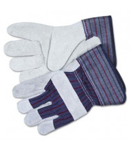 MCR Safety Memphis Men's X-Large Split Leather Palm Gloves, Gray