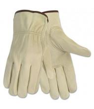 MCR Safety Memphis Economy Medium Leather Driver Gloves, Cream