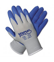 MCR Safety Memphis Flex X-Large Seamless Nylon Knit Latex Gloves, Blue/Gray
