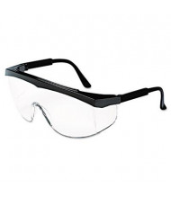MCR Safety Stratos Safety Glasses, Black Frame with Clear Lens