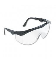 MCR Safety Crews Tomahawk Wraparound Safety Glasses, Black Nylon Frame with Clear Lens, 12/Box