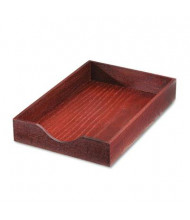 "Carver 2-1/4"" H Hardwood Stackable Legal Tray, Mahogany"