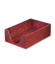 "Carver 5"" H Hardwood Stackable Legal Tray, Mahogany"